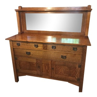 Antique Stickley Oak Sideboard