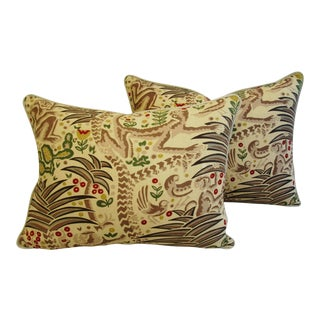Designer Clarence House Gibbon Fabric Pillows - a Pair