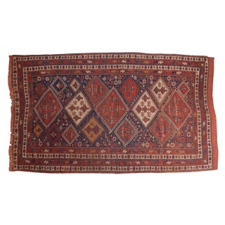 "Antique Afshar Carpet - 6'2"" x 11'1"""