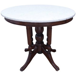19th Century Victorian Marble Top Round Table