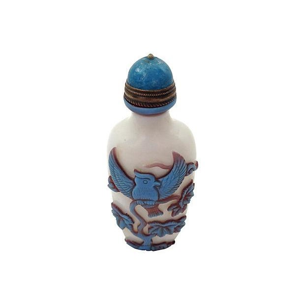 Image of Peking Glass Snuff Bottle with Stand
