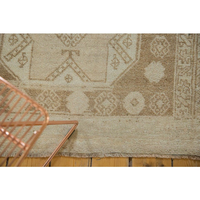 "Vintage Distressed Oushak Rug Runner - 3'7"" x 8'3"" - Image 6 of 10"