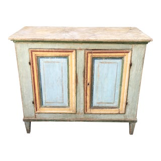 Superb Antique Paint Decorated Rustic Sideboard. Vintage   Used Credenzas  Sideboards   Buffets   Chairish