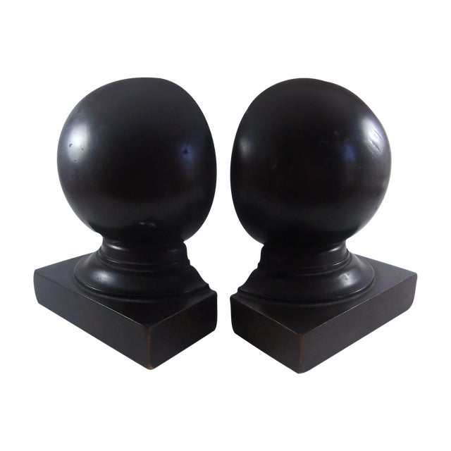 Image of Architectural Mahogany Bookends