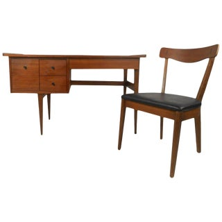 American of Martinsville Mid Century Matching Desk & Chair