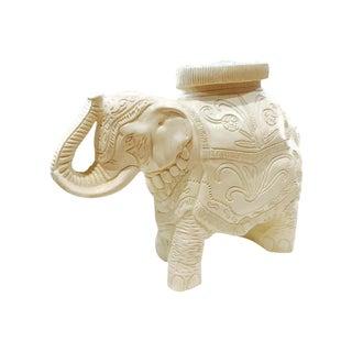 Vintage Regency White Elephant Table