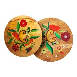Mid-Century Platters - A Pair