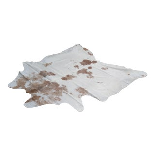 Cowhide Tan & White Rug - 6′2″ × 6′8″