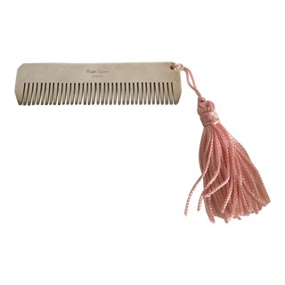 Ralph Lauren Sterling Silver Baby Girl Comb with Pink Tassel