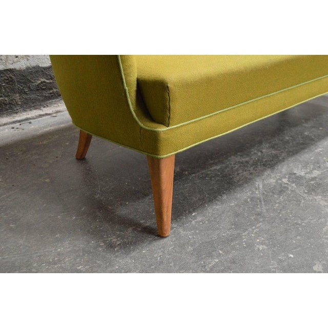 Mid-Century Scandinavian Modern Green Tweed Sofa in the Style of Carl Malmsten - Image 4 of 6