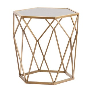 Athena Geometric Mirror Top Accent Table