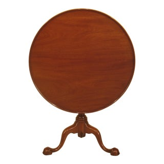 Kittinger Round Williamsburg Mahogany Tilt Top Table