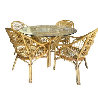 Bamboo Breakfast Dining Set