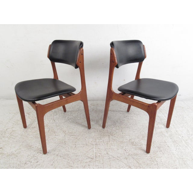 Vintage Erik Buch Scandinavian Modern Dining Chairs - Set of 6 - Image 4 of 11