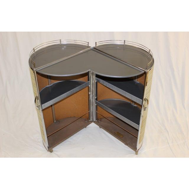 Mid Century Modern Circular Bar Cart - Image 4 of 9