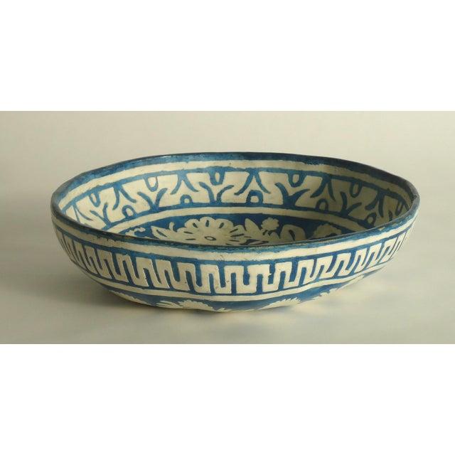 Folk Art Painted Gourd Bowl - Image 4 of 8