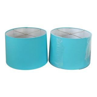 Robin's Egg Blue Custom Drum Shades - A Pair