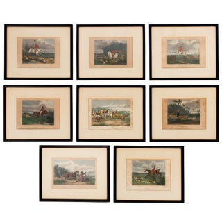19th Century English Sporting and Hunt Scene Prints - Set of 8