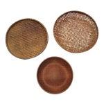 Round Winnowing Baskets- Set of 3