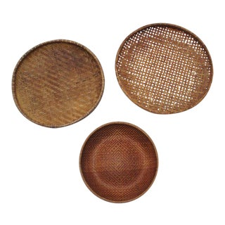 Round Winnowing Baskets- Set of 3