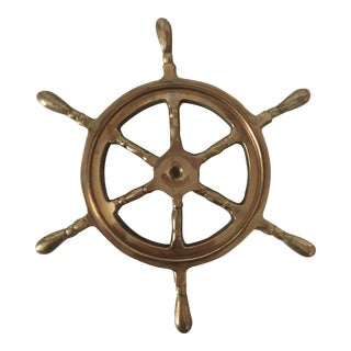 Brass Ship Wheel Paper Weight