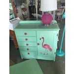 Image of Hand Painted Flamingo Dresser