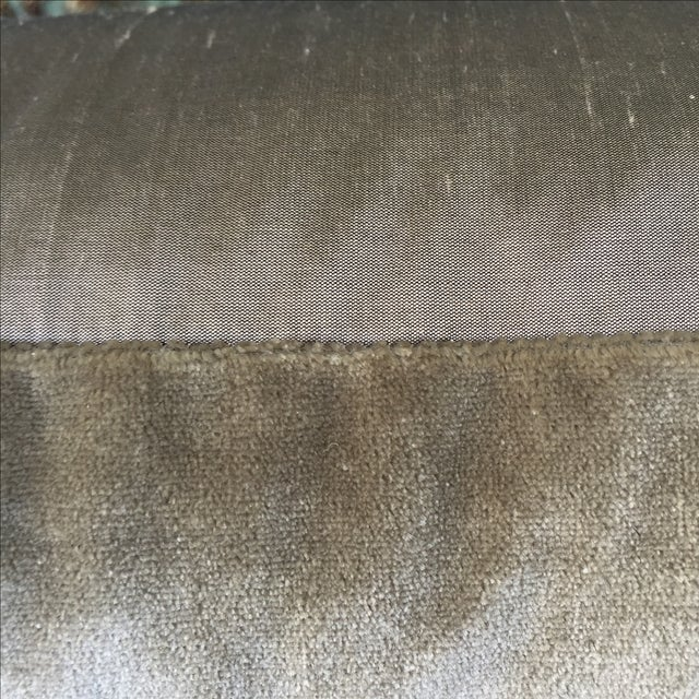 Metallic & Chenille Embroidered Pillows - Pair - Image 4 of 5