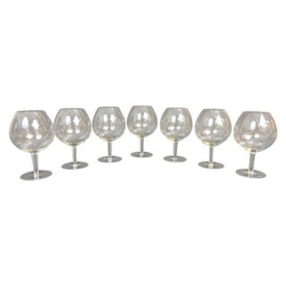 Hand Blown Brandy Snifters - Set of 7