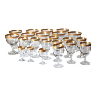 Fostoria Golden Grail Wine Glass Stemware - Set of 22