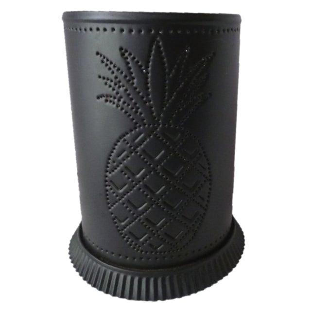 Image of Black Steel Pineapple Table Lamp