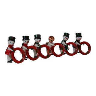 Vintage Vera Neumann Christmas Napkin Rings - Set of 6