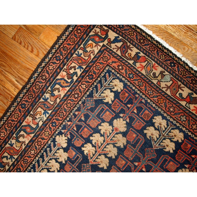 1880s Hand Made Antique Persian Kurdish Rug - 2′10″ × 5′10″ - Image 3 of 6