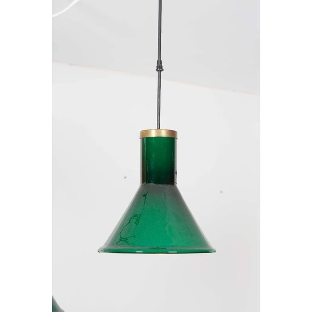 Green Glass Pendant Lamp by Holmegaard - Image 3 of 4