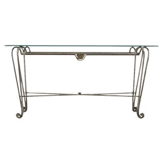 Industrial Stainless Steel Console Table