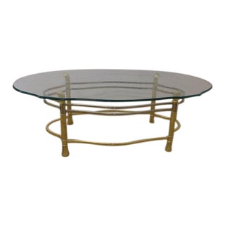 1970s Brass & Chrome Coffee Table