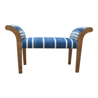Blue & White Lyndhurst Window Bench