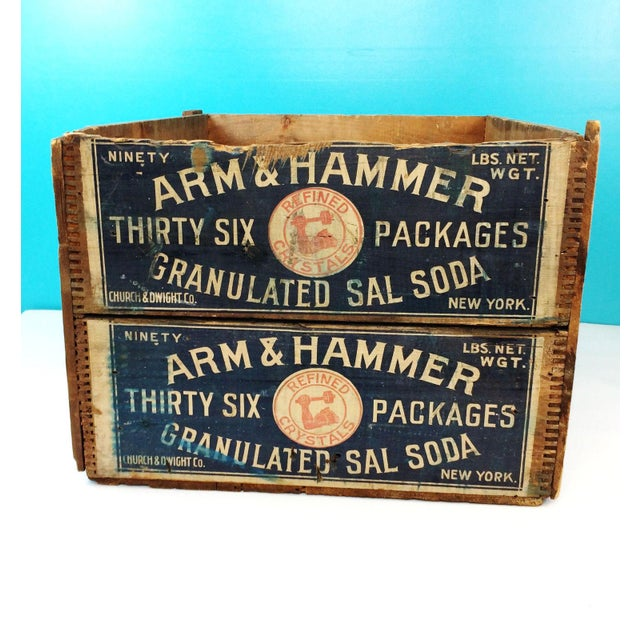 Vintage Arm & Hammer Soda Wood Shipping Crate - Image 2 of 7