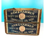 Image of Vintage Arm & Hammer Soda Wood Shipping Crate