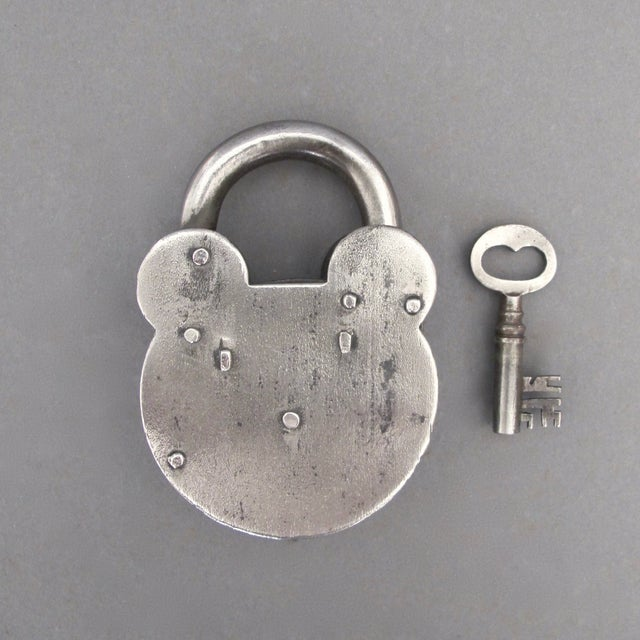 Steel & Brass Antique Padlock From England - Image 5 of 7