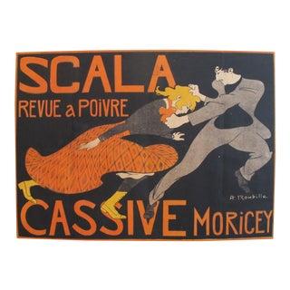 1903 French Belle Epoque Poster, Revue a Poivre