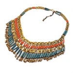 Image of Coral Egyptian Revival Demi-Parure
