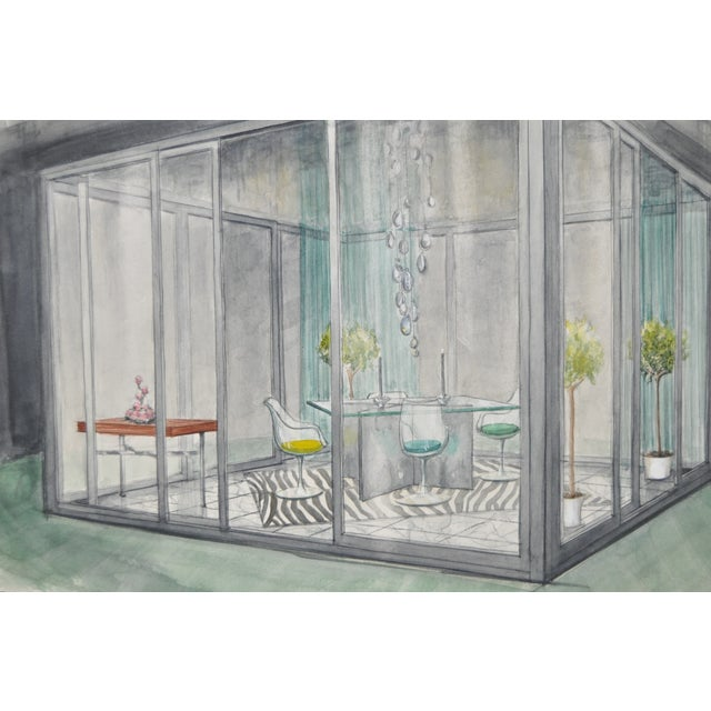 Image of Mid Modern Home Furnishings Illustration C.1950