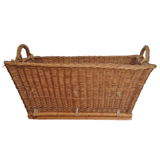 French Laundry Basket With Handles