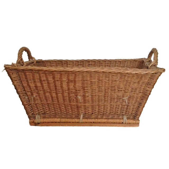 French Laundry Basket With Handles - Image 1 of 3