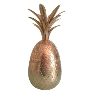 Large Brass Pineapple Container