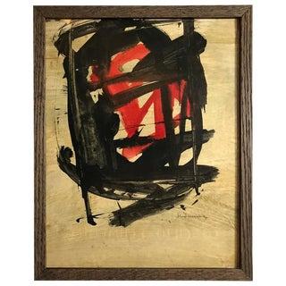 Abstract Painting on Board by Santamaria