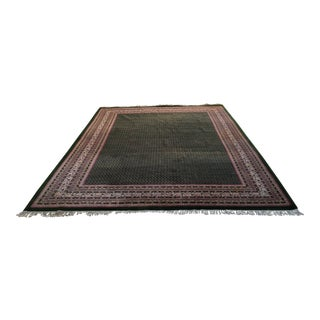 "Hand Knotted Mir Design Green Area Rug -- 9'3"" x 12'4"""