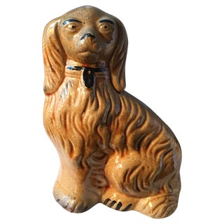 Antique Staffordshire Style Spaniel Dog Figure