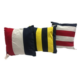 Nautical Flags Pillows Decor- Set of 3