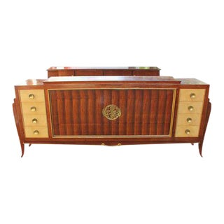 Spectacular French Art Deco Palisander And Sycamore Sideboard / Credenza Circa 1935s